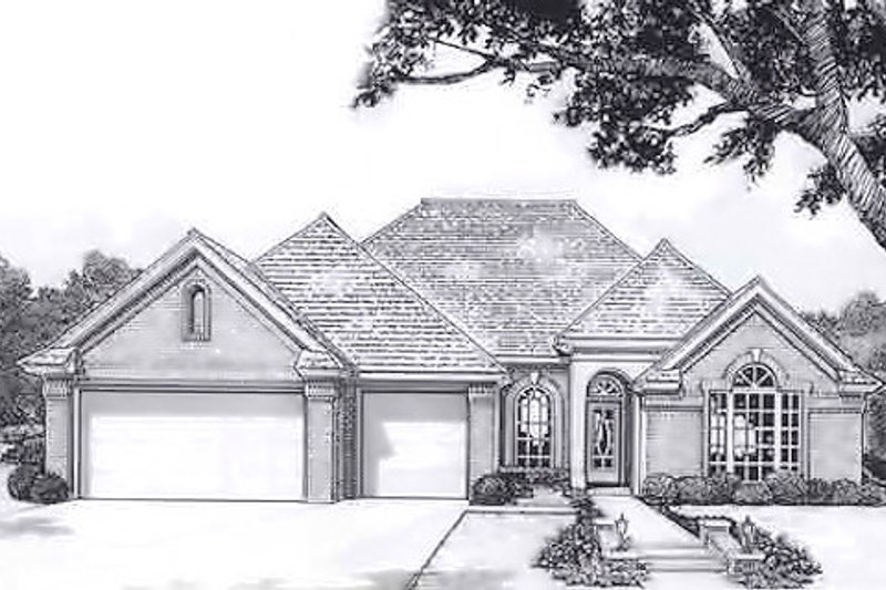 Traditional Style House Plan - 4 Beds 2 Baths 1956 Sq/Ft Plan #310-914 Exterior - Front Elevation