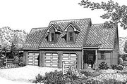 Traditional Style House Plan - 1 Beds 1 Baths 742 Sq/Ft Plan #410-106 Exterior - Front Elevation
