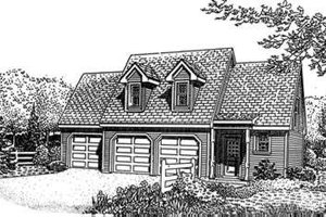 Home Plan Design - Traditional Exterior - Front Elevation Plan #410-106