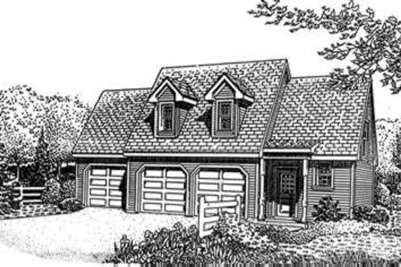 Traditional Exterior - Front Elevation Plan #410-106