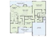 Craftsman Style House Plan - 4 Beds 3 Baths 2481 Sq/Ft Plan #17-2160 Floor Plan - Main Floor Plan