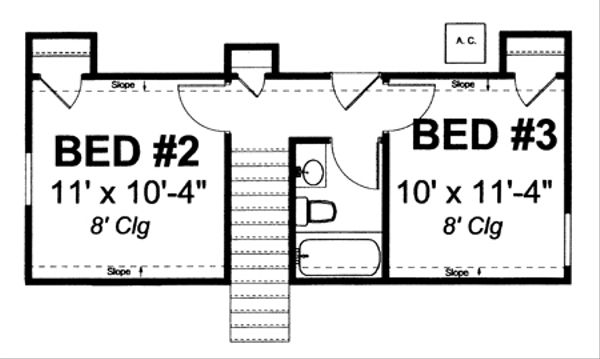 Country Floor Plan - Upper Floor Plan Plan #513-2058