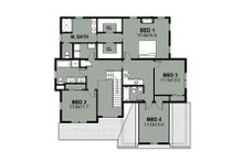 Farmhouse Floor Plan - Upper Floor Plan Plan #497-16