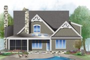 Craftsman Style House Plan - 3 Beds 2.5 Baths 2103 Sq/Ft Plan #929-1032 Exterior - Rear Elevation