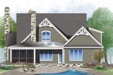 Craftsman Exterior - Rear Elevation Plan #929-1032