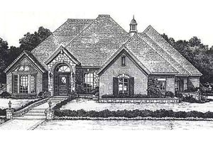 European Exterior - Front Elevation Plan #310-875