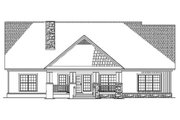 Country Style House Plan - 4 Beds 3.5 Baths 2445 Sq/Ft Plan #17-2148 Exterior - Rear Elevation