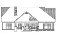 Dream House Plan - Rear Elevation  BW