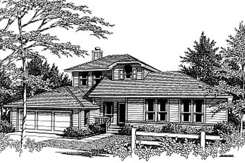 Exterior - Front Elevation Plan #14-213