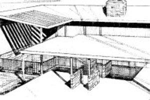 Modern Exterior - Front Elevation Plan #303-260