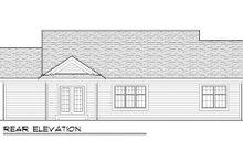 Craftsman Exterior - Rear Elevation Plan #70-1013