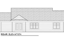 Craftsman Exterior - Rear Elevation Plan #70-1013