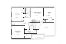 Farmhouse Floor Plan - Lower Floor Plan Plan #437-97