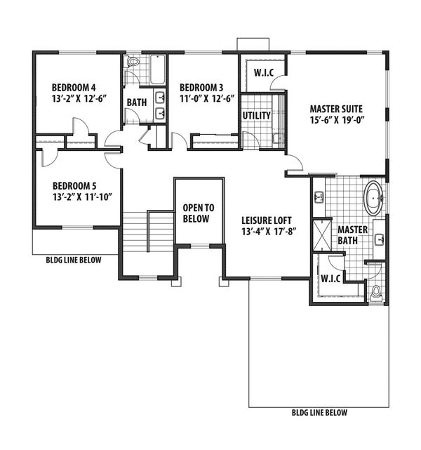 Contemporary Floor Plan - Upper Floor Plan Plan #569-38