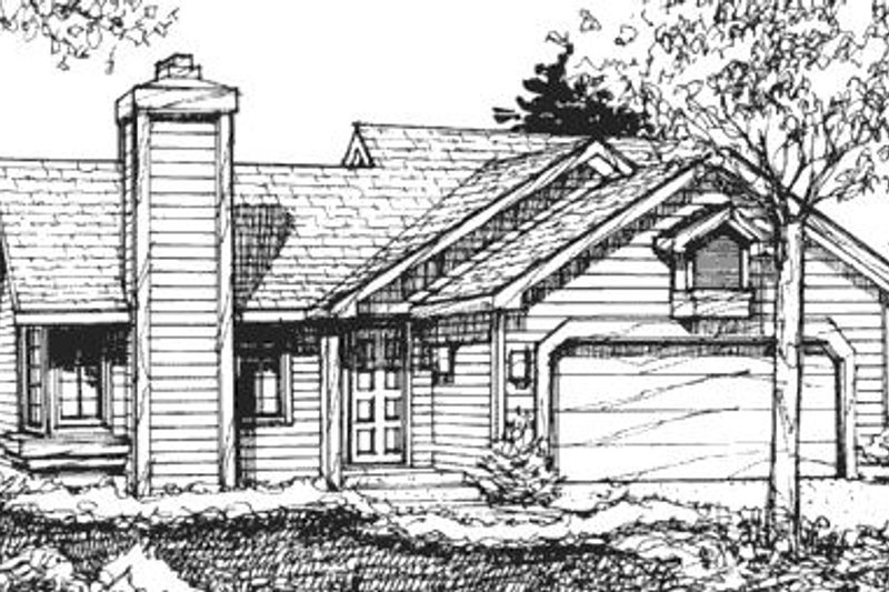 Ranch Exterior - Front Elevation Plan #320-438