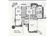 Colonial Style House Plan - 3 Beds 2.5 Baths 2740 Sq/Ft Plan #310-888 Floor Plan - Main Floor