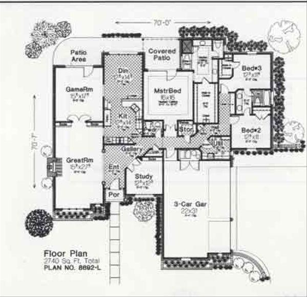 Colonial Floor Plan - Main Floor Plan #310-888