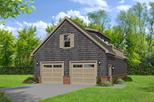 Traditional Exterior - Front Elevation Plan #932-356