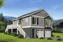 Country Exterior - Front Elevation Plan #932-139