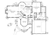 Country Style House Plan - 4 Beds 2.5 Baths 2202 Sq/Ft Plan #80-125 Floor Plan - Main Floor Plan