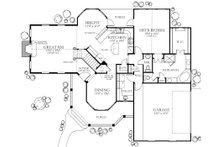 Country Floor Plan - Main Floor Plan Plan #80-125