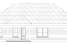 Craftsman Exterior - Rear Elevation Plan #932-171