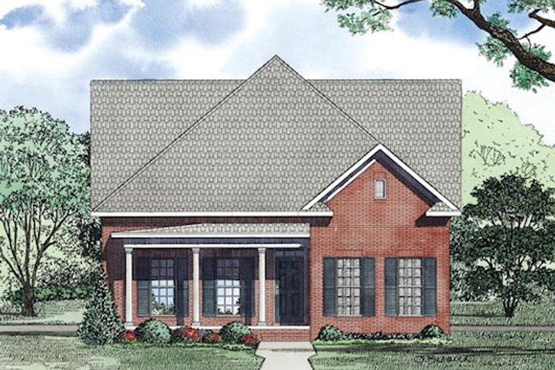 Traditional Exterior - Other Elevation Plan #17-2424 - Houseplans.com