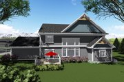 Craftsman Style House Plan - 4 Beds 3.5 Baths 3651 Sq/Ft Plan #70-1289 Exterior - Rear Elevation