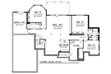 European Floor Plan - Lower Floor Plan Plan #70-889