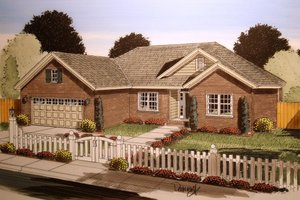 Ranch Exterior - Front Elevation Plan #513-19