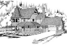 Farmhouse Exterior - Front Elevation Plan #124-113