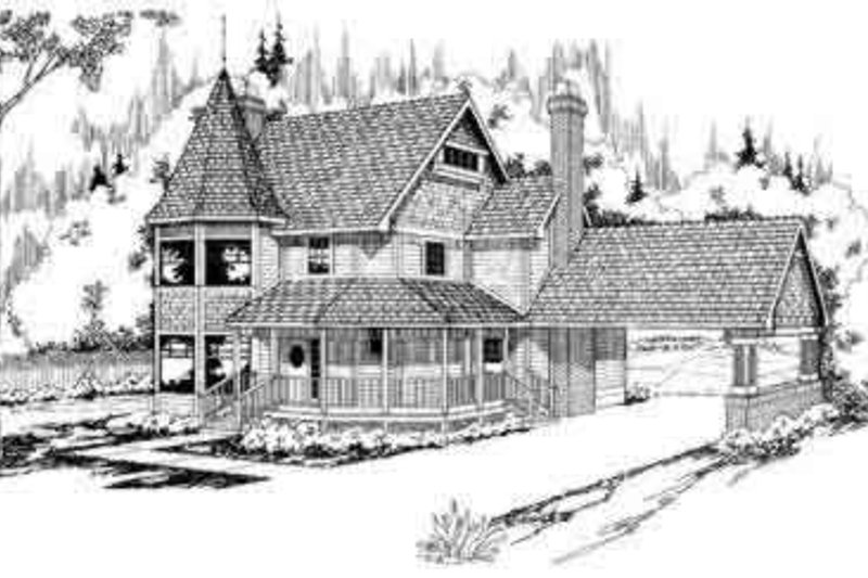 Home Plan - Farmhouse Exterior - Front Elevation Plan #124-113