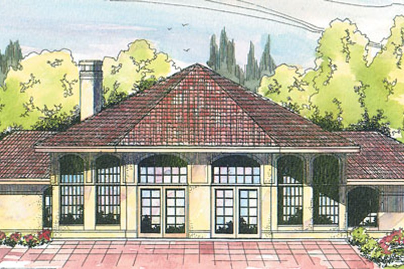 Mediterranean Exterior - Front Elevation Plan #124-118