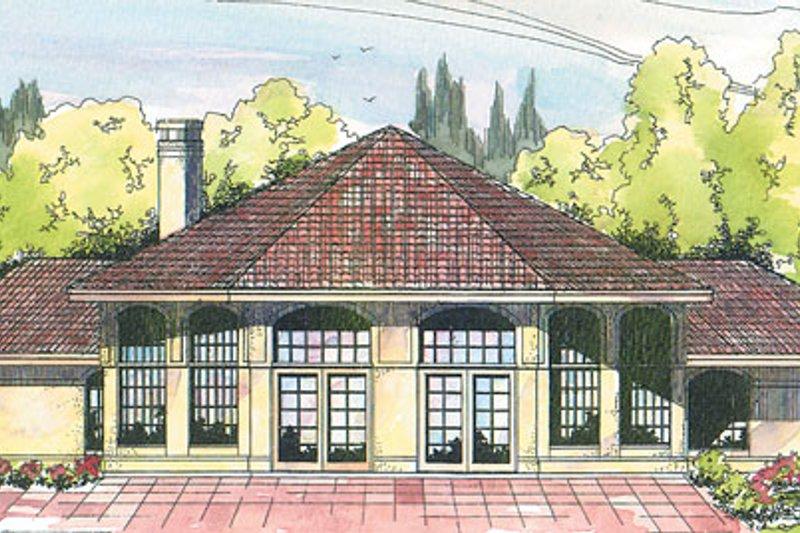 Dream House Plan - Mediterranean Exterior - Front Elevation Plan #124-118