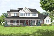 Farmhouse Style House Plan - 4 Beds 2.5 Baths 2632 Sq/Ft Plan #50-283 Exterior - Front Elevation
