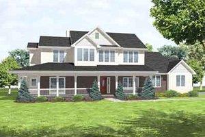 Farmhouse Exterior - Front Elevation Plan #50-283