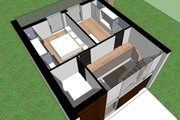 Modern Style House Plan - 2 Beds 1 Baths 709 Sq/Ft Plan #473-3