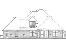 Home Plan - European Exterior - Rear Elevation Plan #310-972