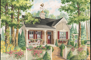 Country Style House Plan - 2 Beds 1 Baths 1042 Sq/Ft Plan #25-4772 Exterior - Front Elevation