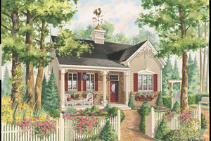 Country Exterior - Front Elevation Plan #25-4772