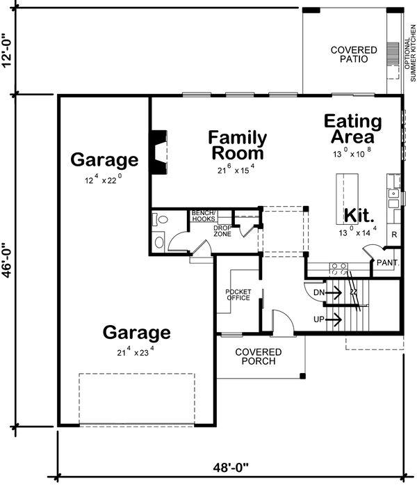 Dream House Plan - Traditional Floor Plan - Main Floor Plan #20-2403