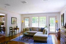 Colonial Interior - Family Room Plan #137-207