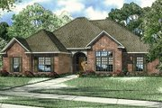 European Style House Plan - 3 Beds 2.5 Baths 2422 Sq/Ft Plan #17-145 Exterior - Front Elevation