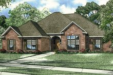Home Plan - European Exterior - Front Elevation Plan #17-145