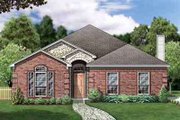 European Style House Plan - 4 Beds 2 Baths 2036 Sq/Ft Plan #84-231 Exterior - Front Elevation