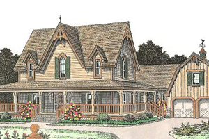 Farmhouse Exterior - Front Elevation Plan #310-163