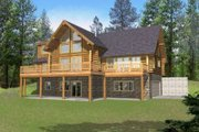 Log Style House Plan - 3 Beds 2.5 Baths 2513 Sq/Ft Plan #117-416 Exterior - Front Elevation