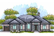 Home Plan - European Exterior - Front Elevation Plan #70-984