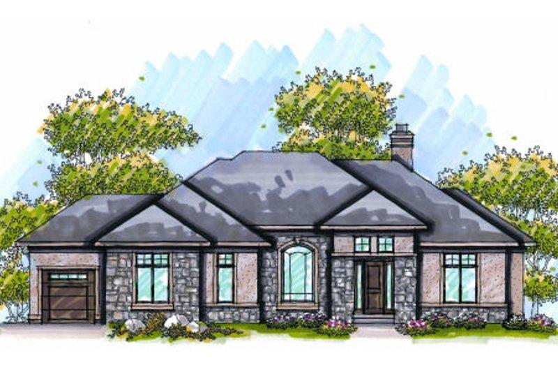 Dream House Plan - European Exterior - Front Elevation Plan #70-984