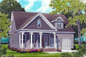 Cottage Exterior - Front Elevation Plan #413-805